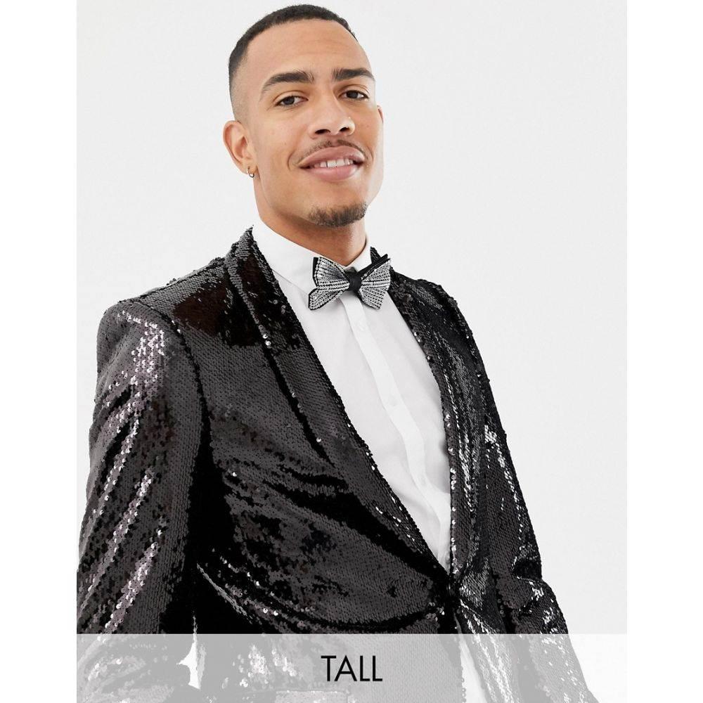 ツイステッド テイラー Twisted Tailor メンズ アウター スーツ・ジャケット【super skinny sequin suit jacket in black】Black