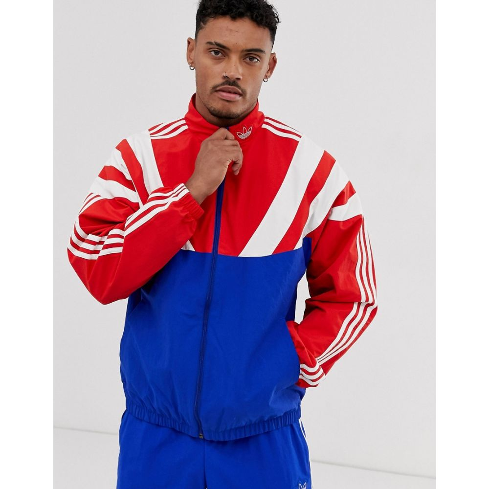 アディダス adidas Originals メンズ アウター ジャージ【Balanta trackjacket with 3 stripes and panelling in red】Blue