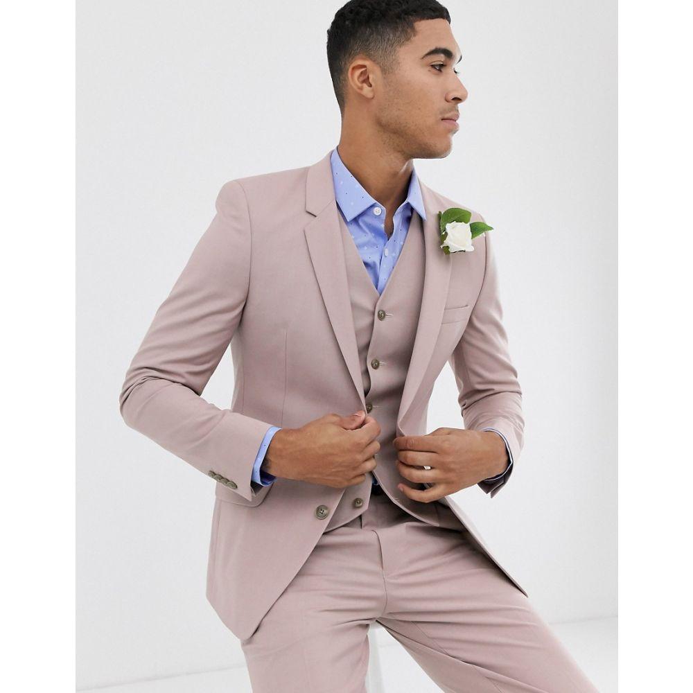 エイソス ASOS DESIGN メンズ アウター スーツ・ジャケット【wedding skinny suit jacket in mink】Mink