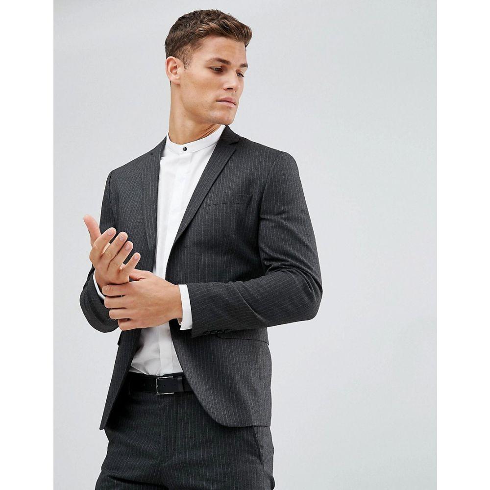 セレクテッド オム Selected Homme メンズ アウター スーツ・ジャケット【Suit Jacket In Pinstripe】Anthracite