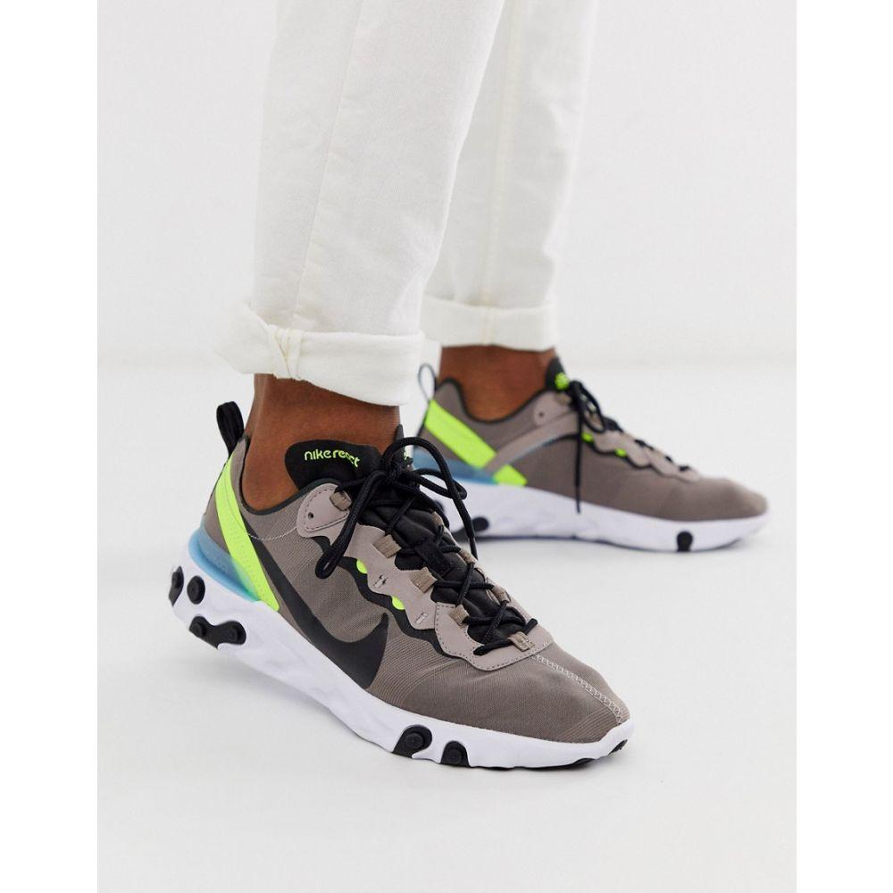 ナイキ Nike メンズ シューズ・靴 スニーカー【React Element 55 trainers in grey】Grey