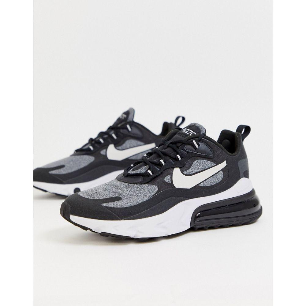 ナイキ Nike メンズ シューズ・靴 スニーカー【Air Max 270 React trainers in black and grey】Black