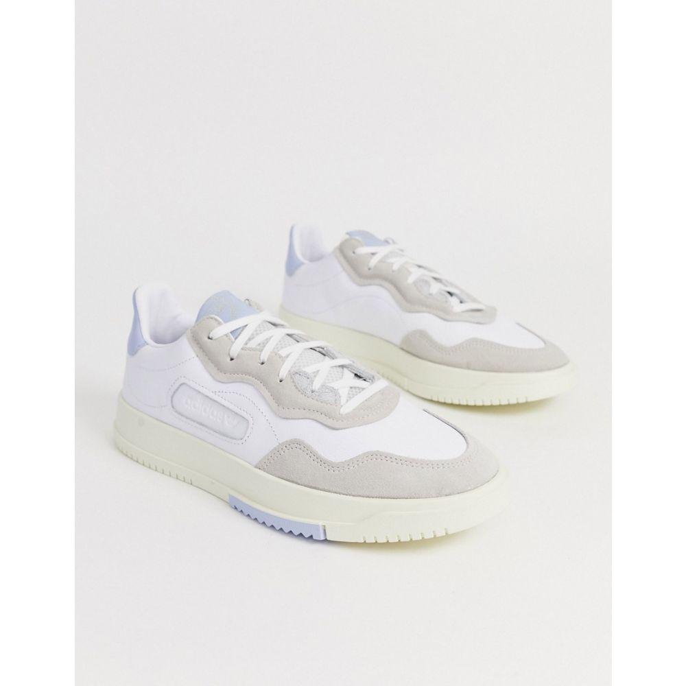 アディダス adidas Originals メンズ シューズ・靴 スニーカー【SC Premier trainers in white with blue heel tab】White
