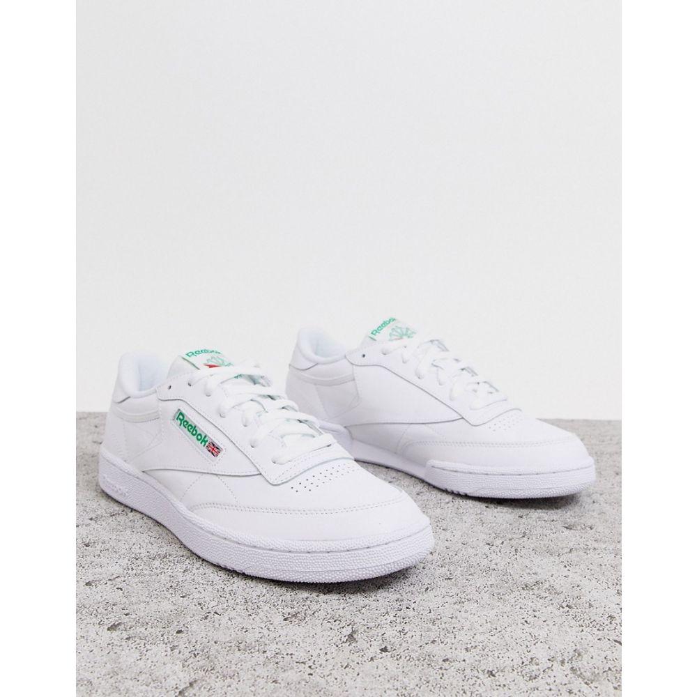 リーボック Reebok メンズ シューズ・靴 スニーカー【Club c 85 trainers in white】White