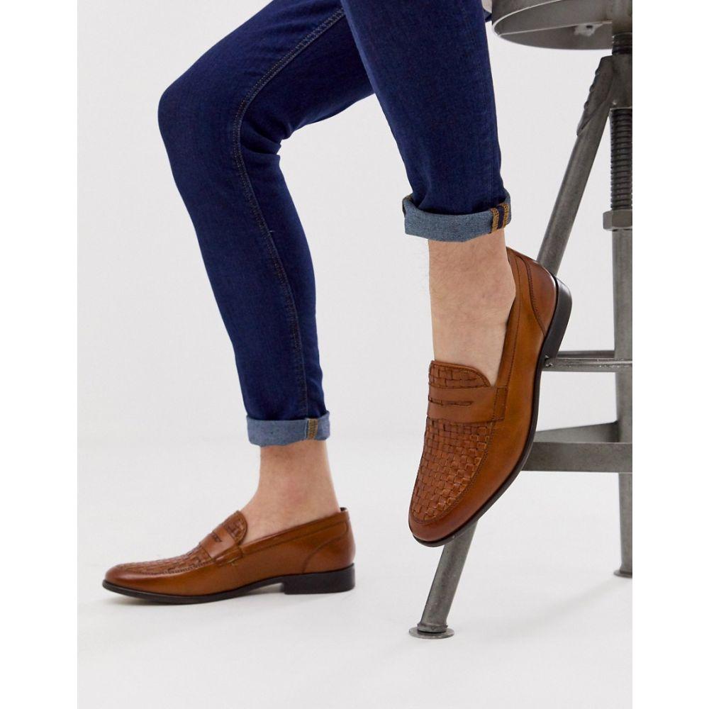 ベース ロンドン Base London メンズ シューズ・靴 ローファー【Alto weave loafers in tan】Tan