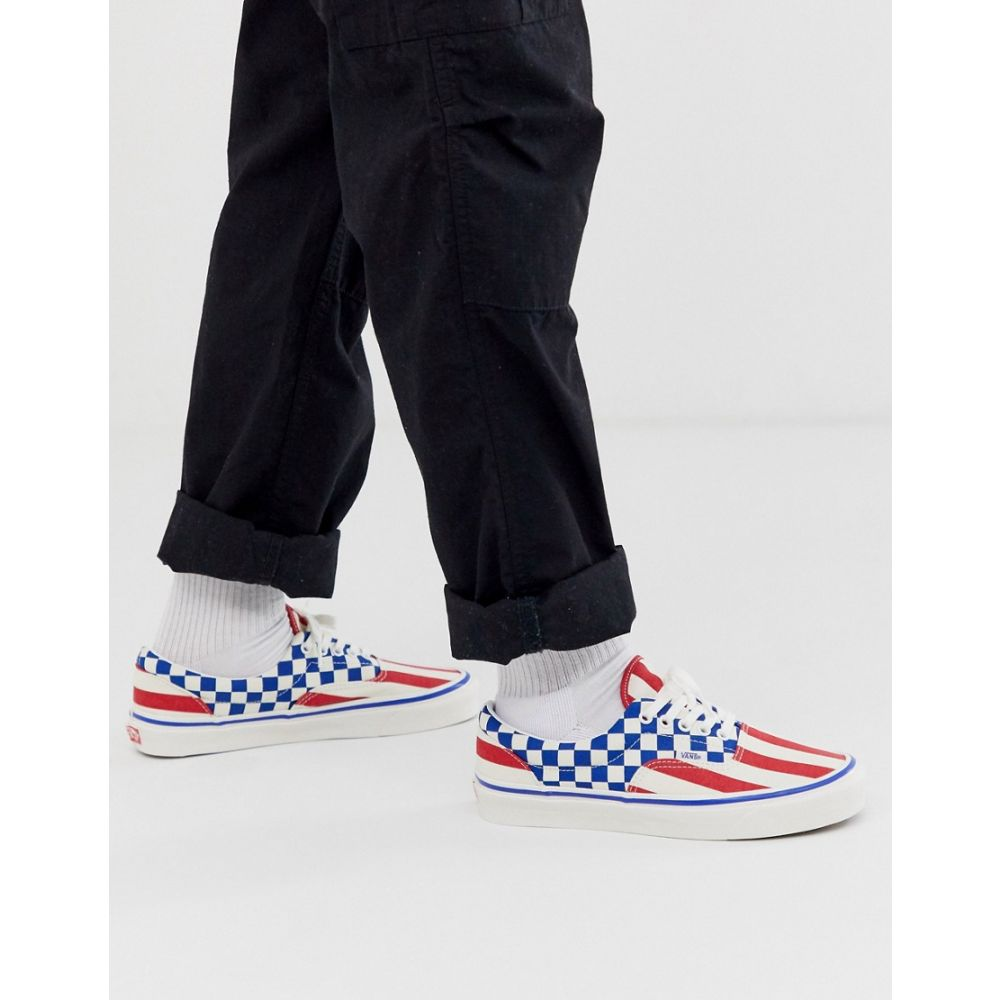 ヴァンズ Vans メンズ シューズ・靴 スニーカー【Anaheim Stripe Era trainers in red/blue】White