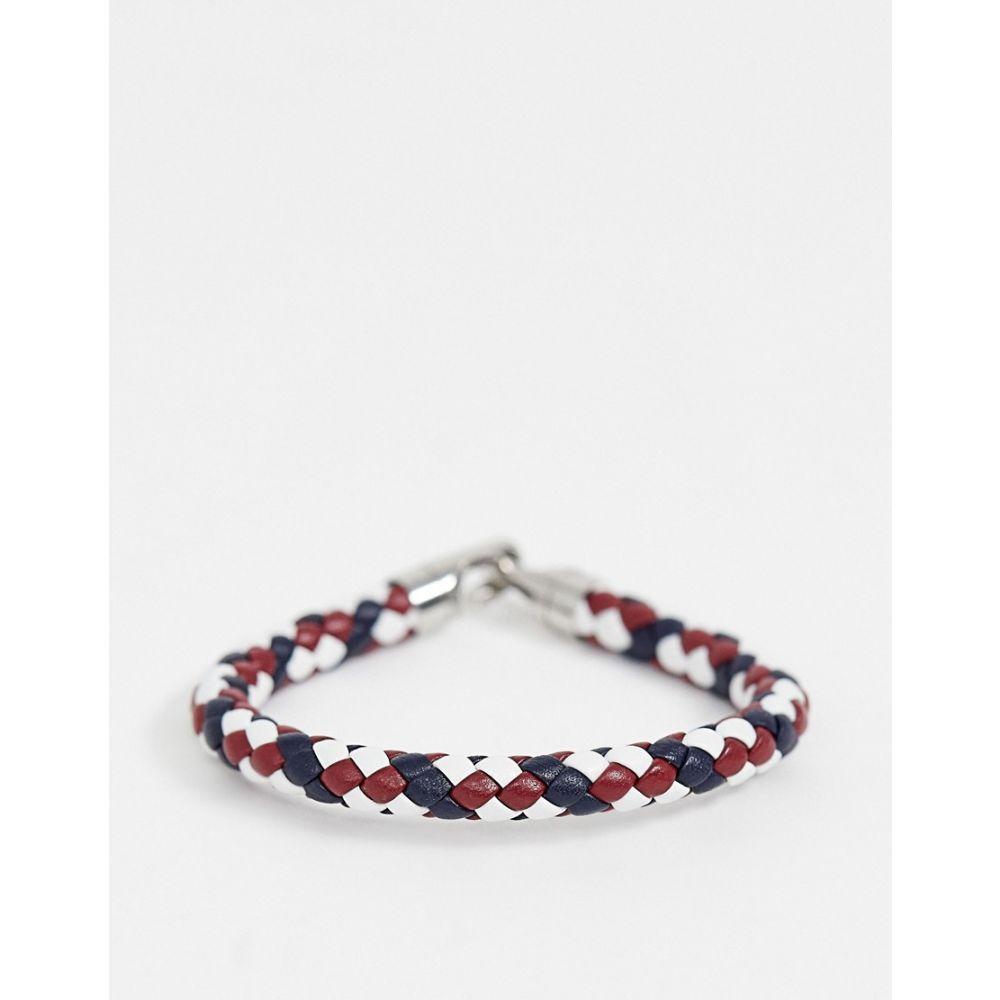 トミー ヒルフィガー Tommy Hilfiger メンズ ジュエリー・アクセサリー ブレスレット【woven bracelet】Blue