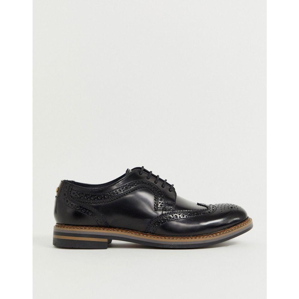 ベース ロンドン Base London メンズ シューズ・靴 革靴・ビジネスシューズ【Kent brogues in hi shine black】Black