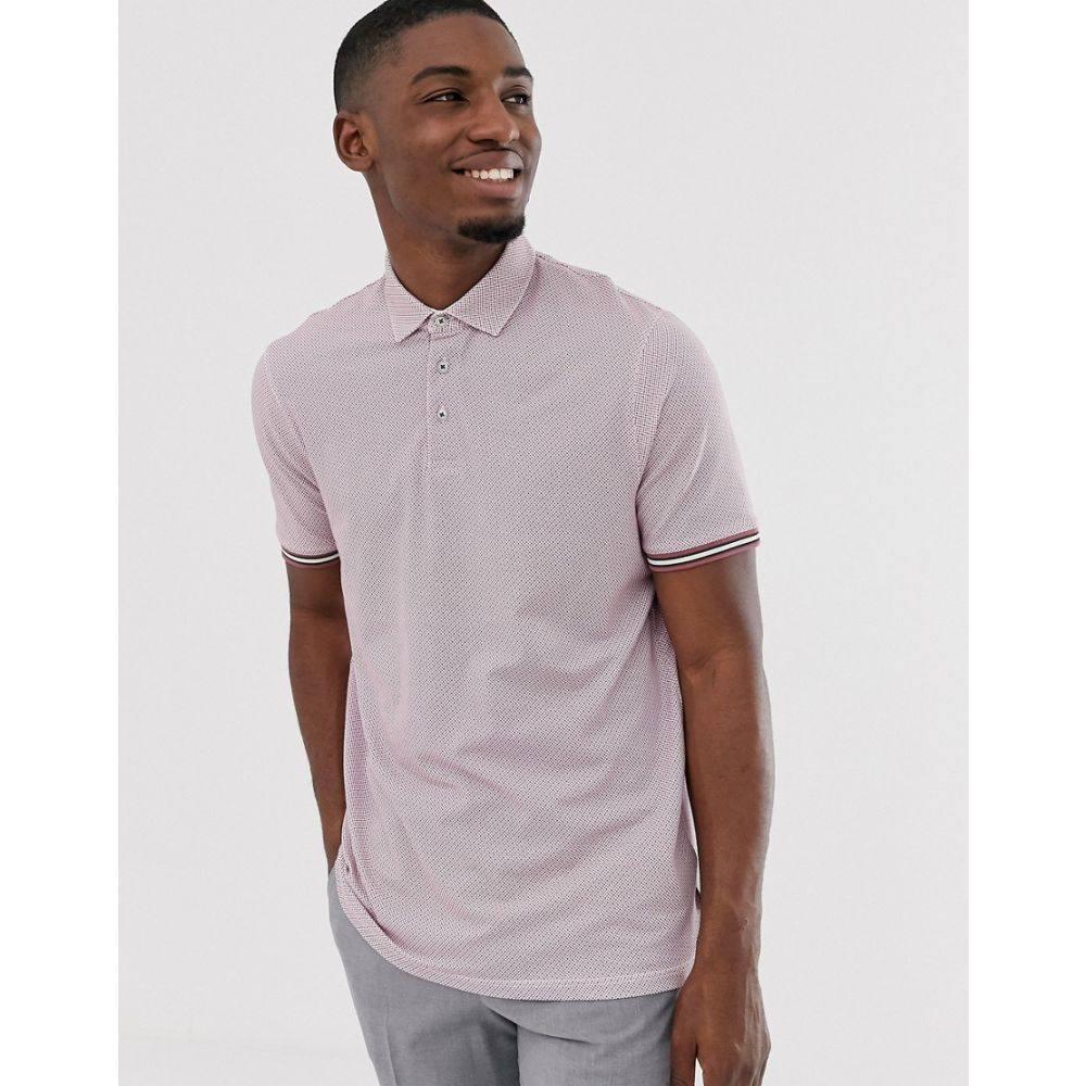 テッドベーカー Ted Baker メンズ トップス ポロシャツ【polo shirt with texture and tipping】Pink