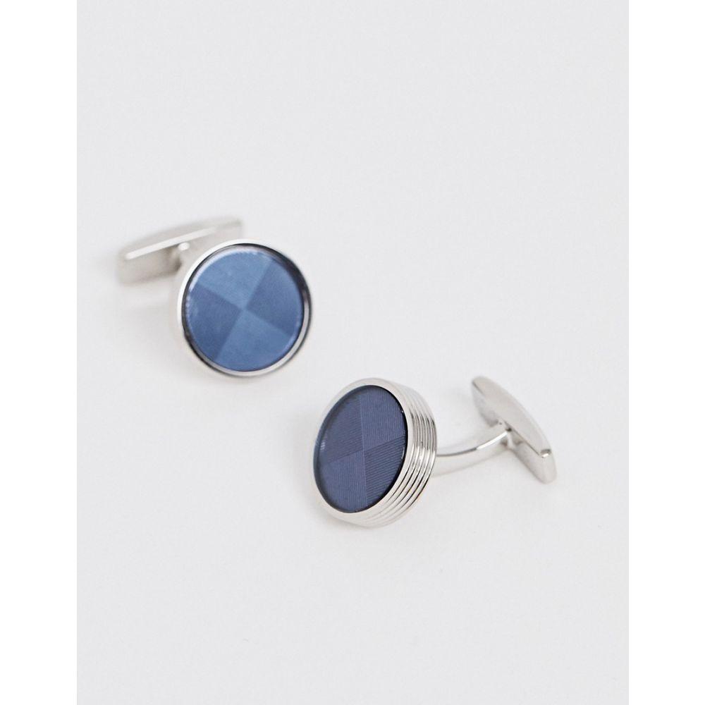 ヒューゴ ボス HUGO メンズ カフス・カフリンクス【BOSS Dorian round cufflinks in blue】Blue