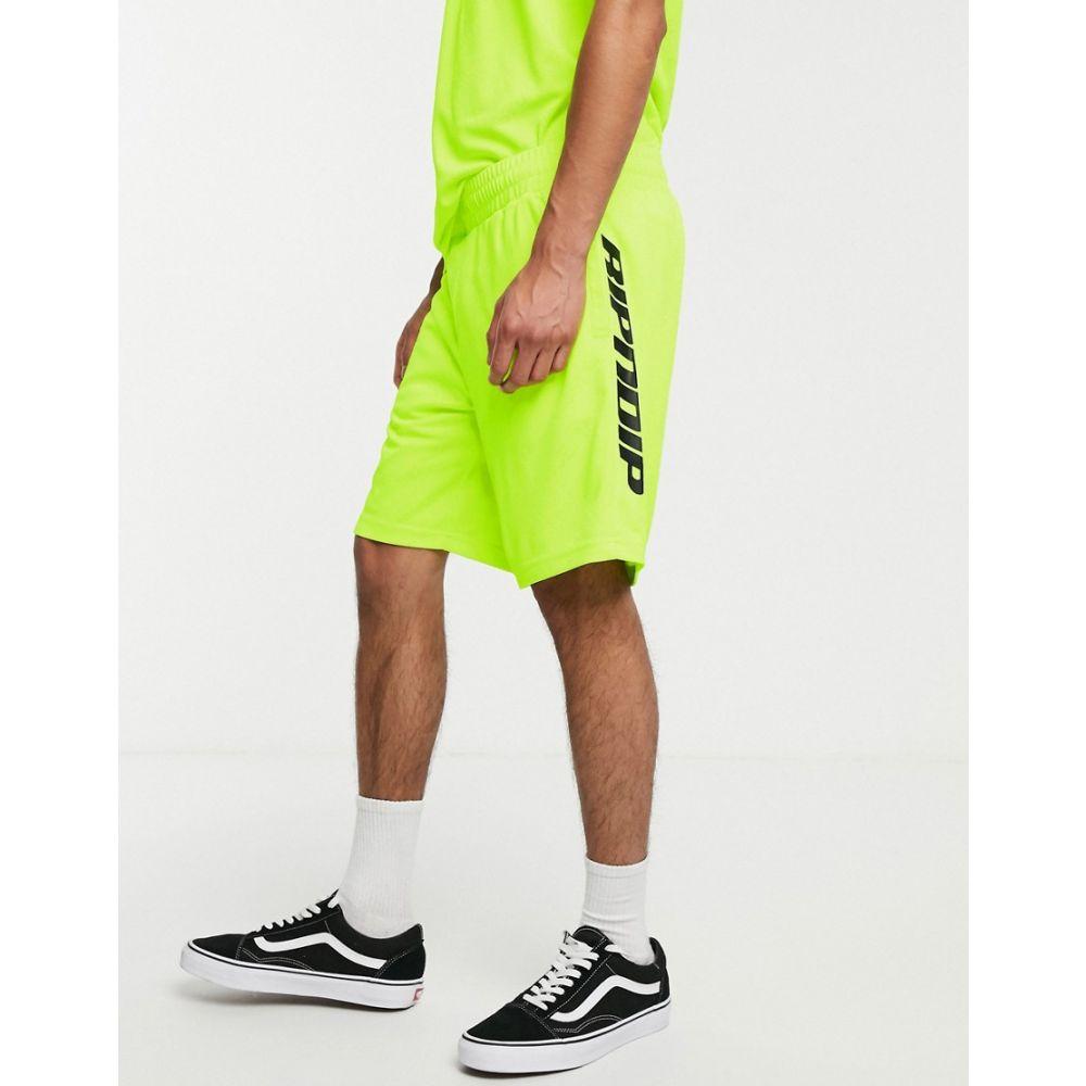 リップンディップ Rip N Dip メンズ ボトムス・パンツ ショートパンツ【RIPNDIP MBN Stripe Soccer shorts in neon green】Neon