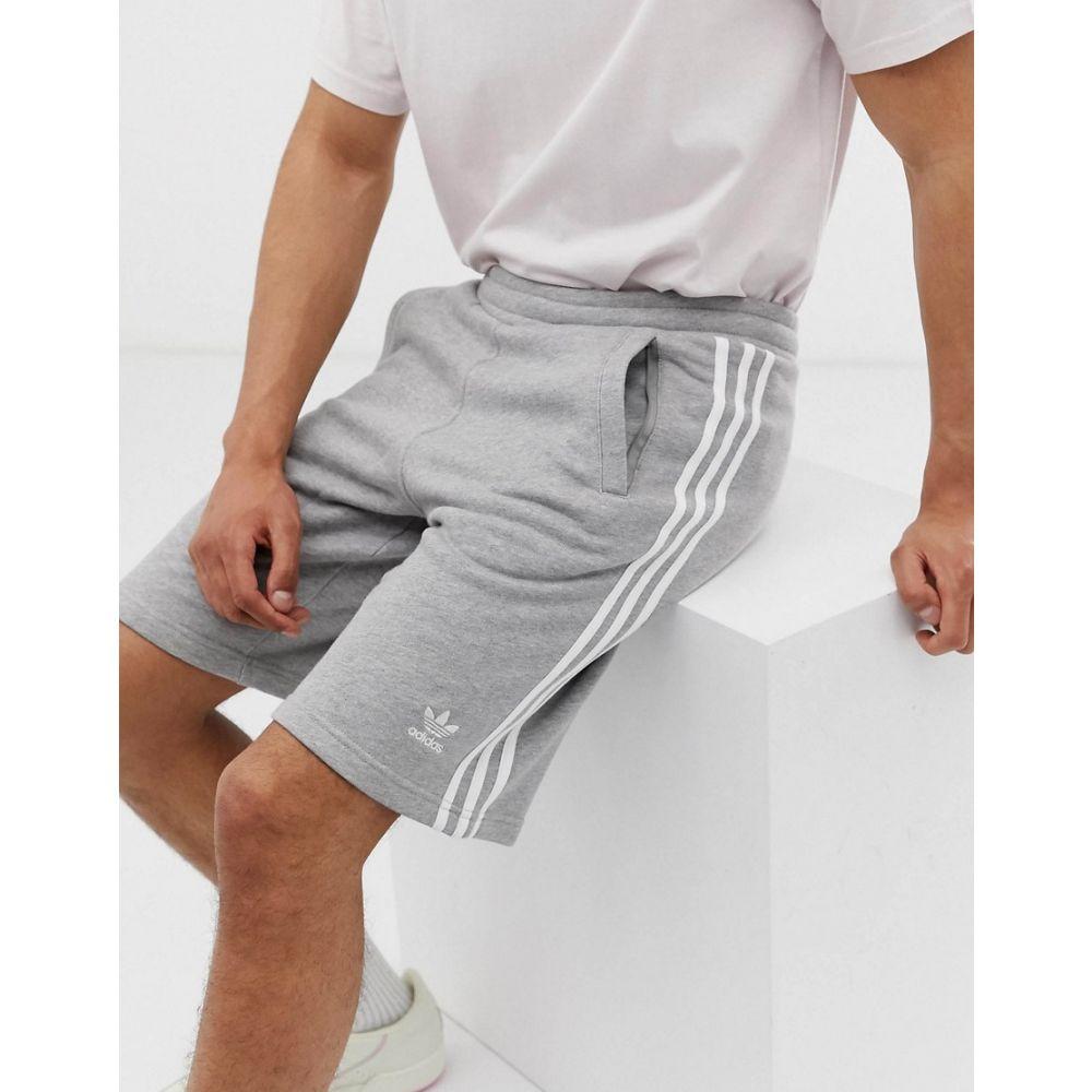 アディダス adidas Originals メンズ ボトムス・パンツ ショートパンツ【3-stripe short in grey】Grey