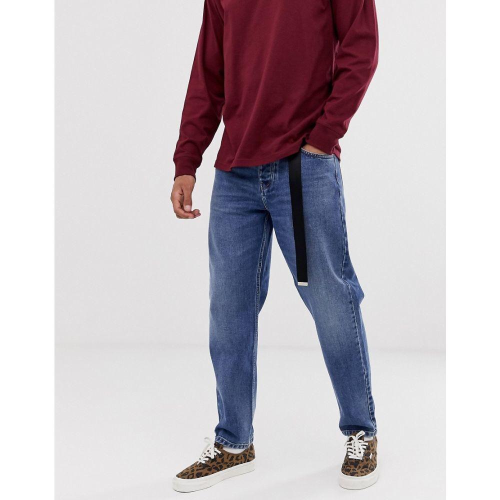 カーハート Carhartt WIP メンズ ボトムス・パンツ ジーンズ・デニム【Newel denim pant relaxed tapered fit in blue】Blue mid worn wash