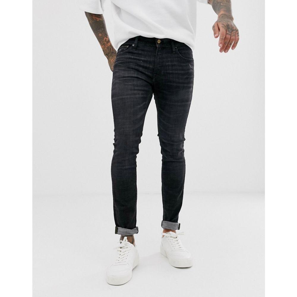 ジャック アンド ジョーンズ Jack & Jones メンズ ボトムス・パンツ ジーンズ・デニム【Intelligence skinny fit jeans in black wash】Black denim