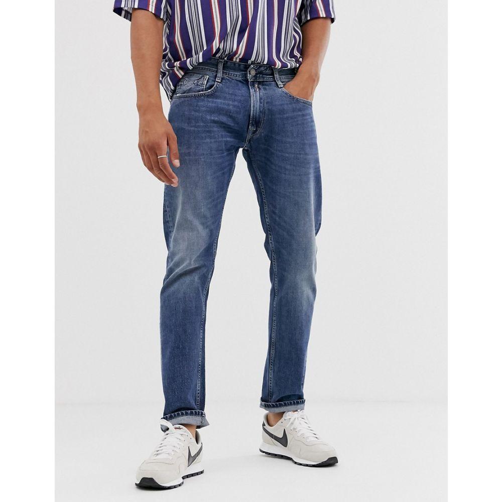 リプレイ Replay メンズ ボトムス・パンツ ジーンズ・デニム【Rob straight tapered fit jeans in mid wash】Blue