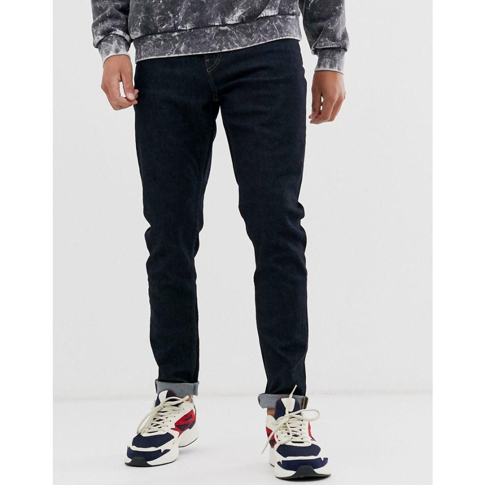 ウィークデイ Weekday メンズ ボトムス・パンツ ジーンズ・デニム【Cone slim tapered jeans in blue dark rinse】Dark blue