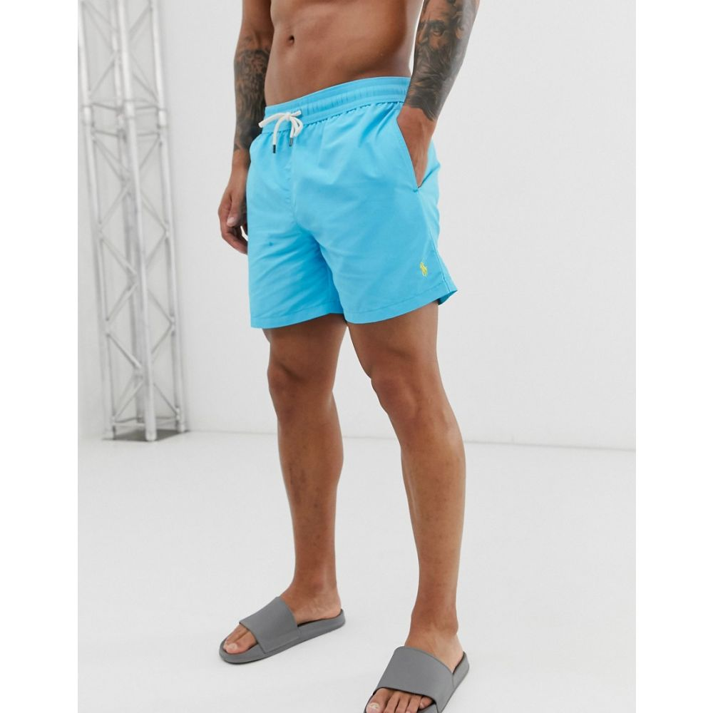ラルフ ローレン Polo Ralph Lauren メンズ 水着・ビーチウェア 海パン【Traveler swim shorts in light 青 青】青