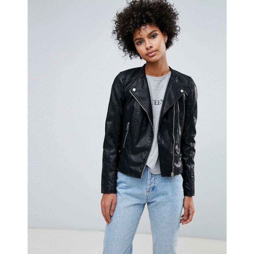 ヴェロモーダ Vero Moda レディース アウター レザージャケット【faux leather biker jacket】Black