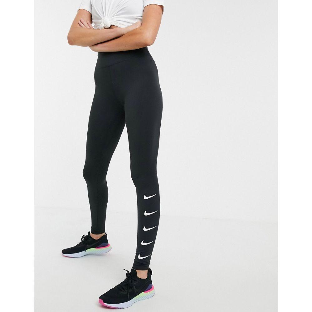 ナイキ Nike Running レディース インナー・下着 スパッツ・レギンス【swoosh leggings in black】Black/white