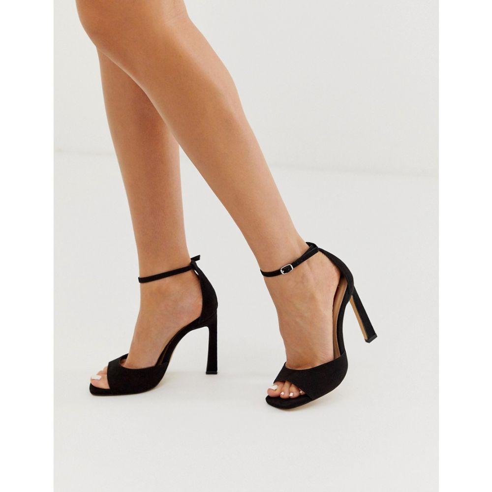 ロンドン レーベル London Rebel レディース シューズ・靴 サンダル・ミュール【barley there flare heel sandals in black】Black