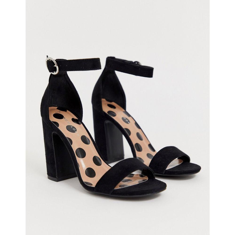 ニュールック New Look レディース シューズ・靴 サンダル・ミュール【block heel sandal in black】Black