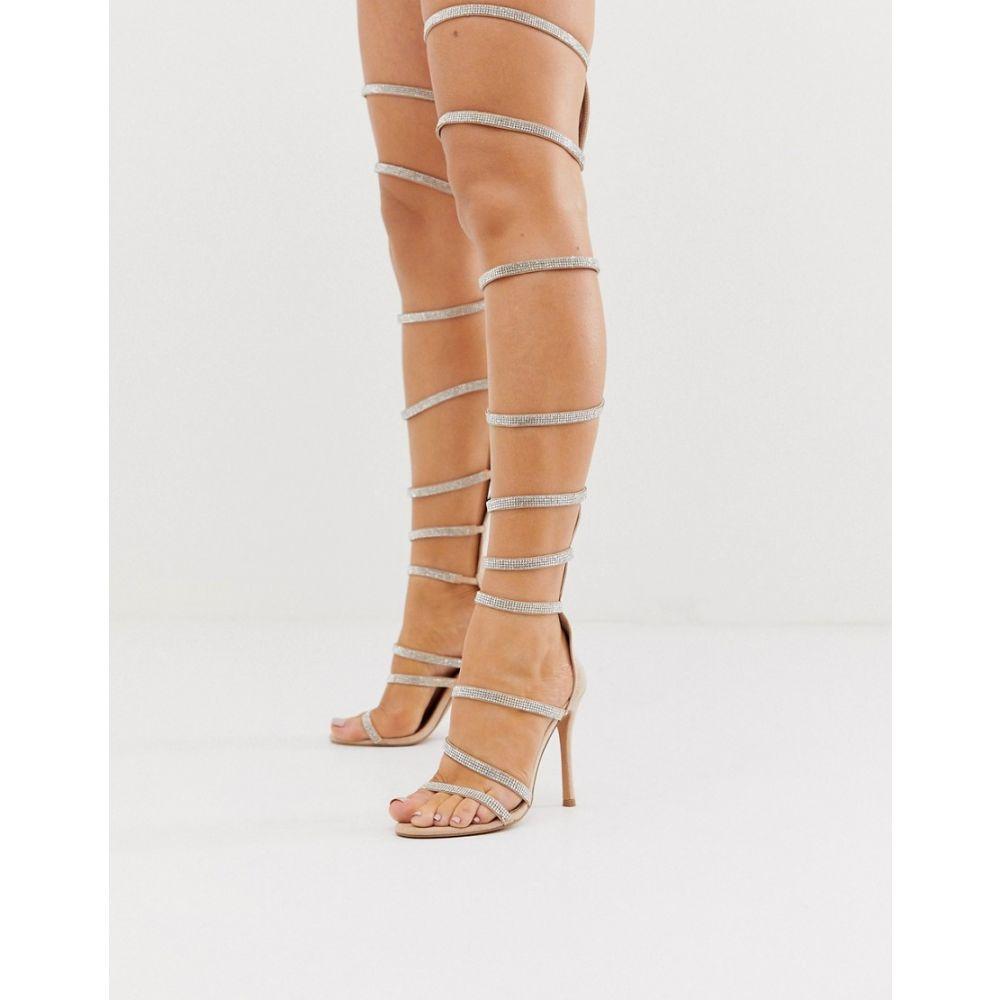 エイソス ASOS DESIGN レディース シューズ・靴 サンダル・ミュール【Nominate thigh high embellished heeled sandals in beige】Beige
