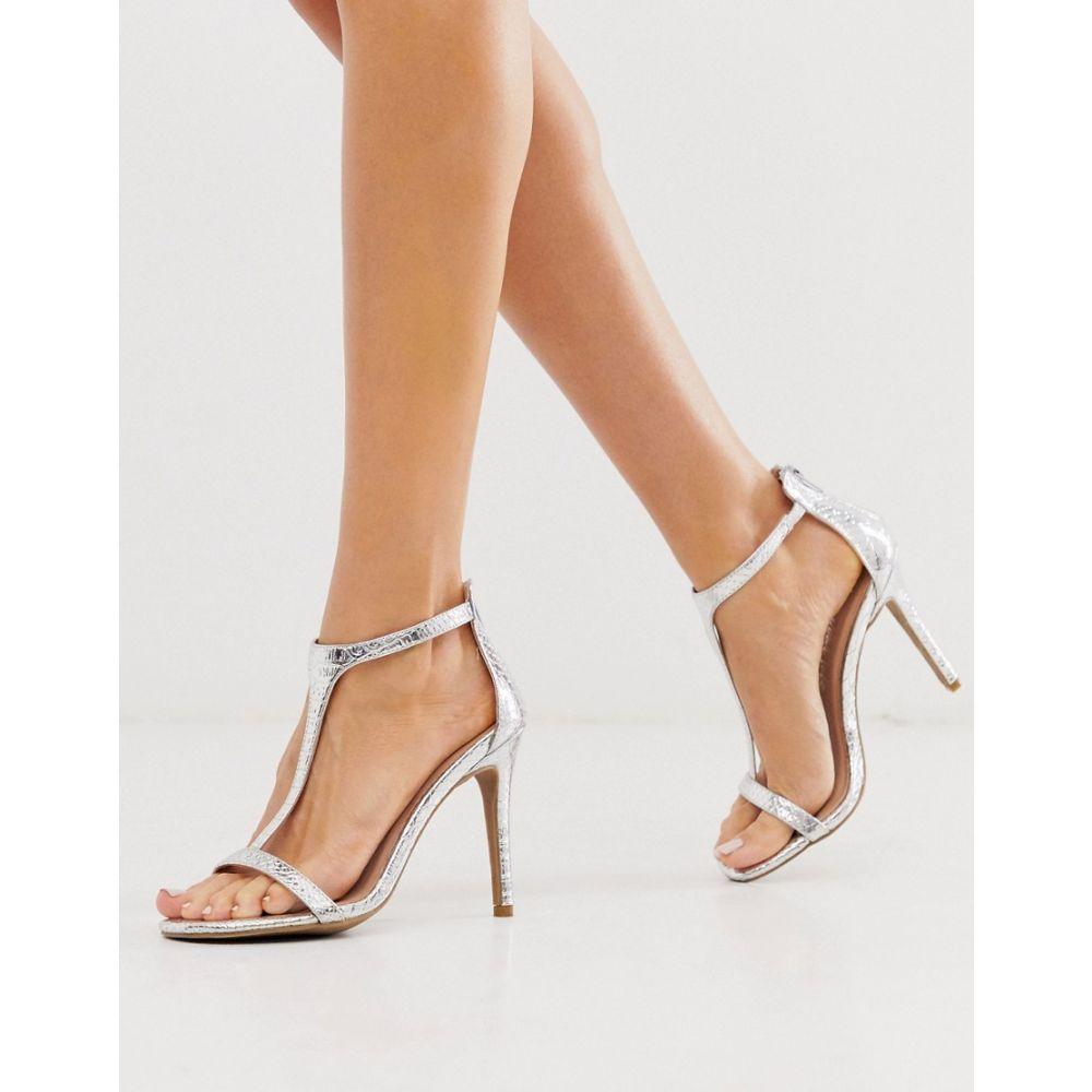 ニュールック New Look レディース シューズ・靴 サンダル・ミュール【heeled sandals in silver】Silver