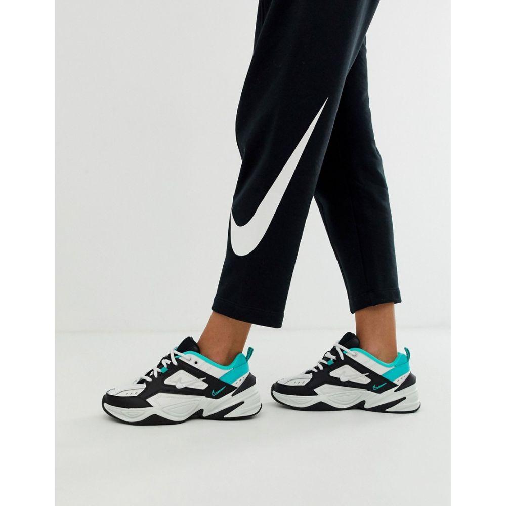 ナイキ Nike レディース シューズ・靴 スニーカー【M2K Tekno trainers in black white and green】Summit white