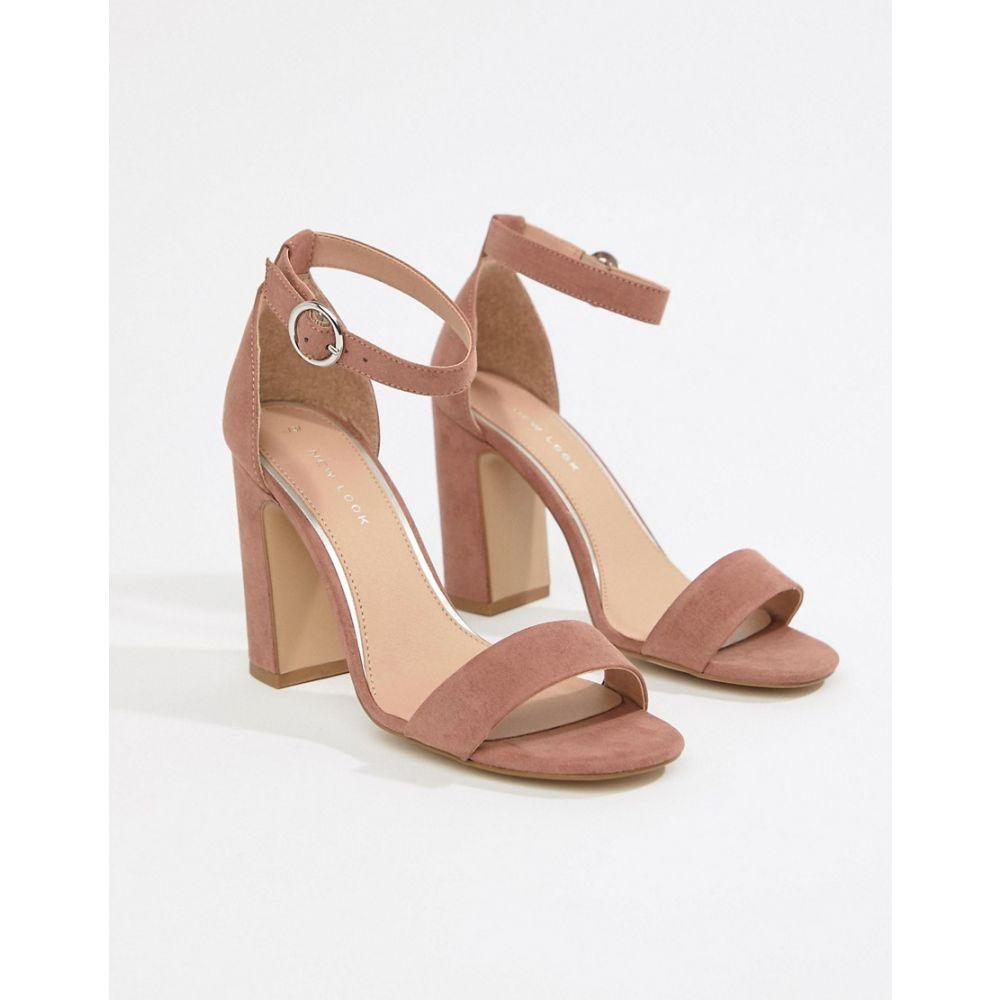 ニュールック New Look レディース シューズ・靴 サンダル・ミュール【block heeled sandals】Light pink