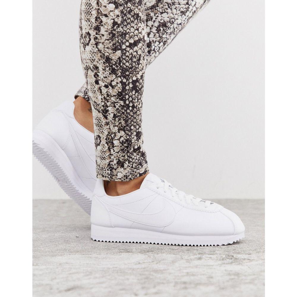 ナイキ Nike レディース シューズ・靴 スニーカー【Cortez leather trainers in triple white】White/white