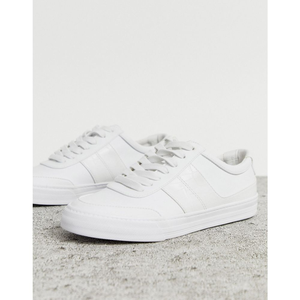 エイソス ASOS DESIGN レディース シューズ・靴 スニーカー【Destine retro lace up trainers in white】Off white/white