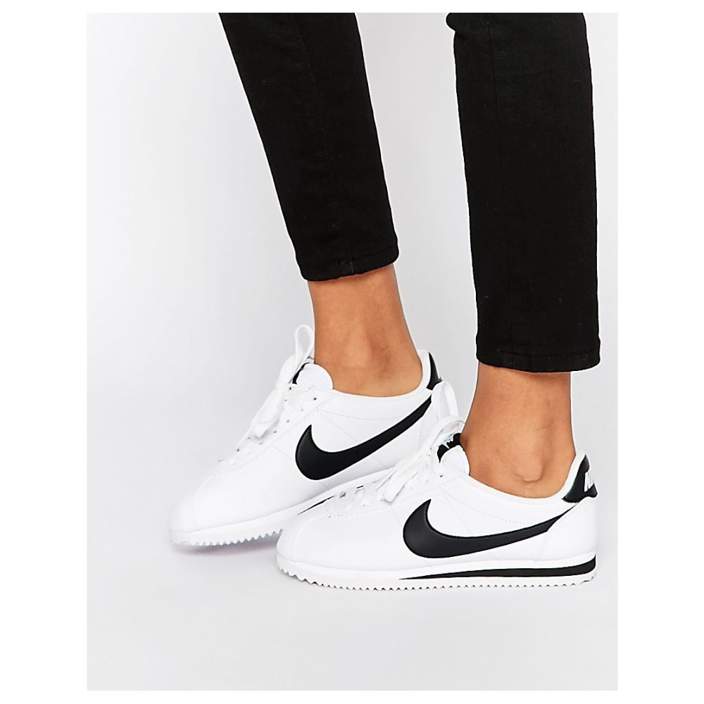 ナイキ Nike レディース シューズ・靴 スニーカー【Leather White Cortez Trainers】White