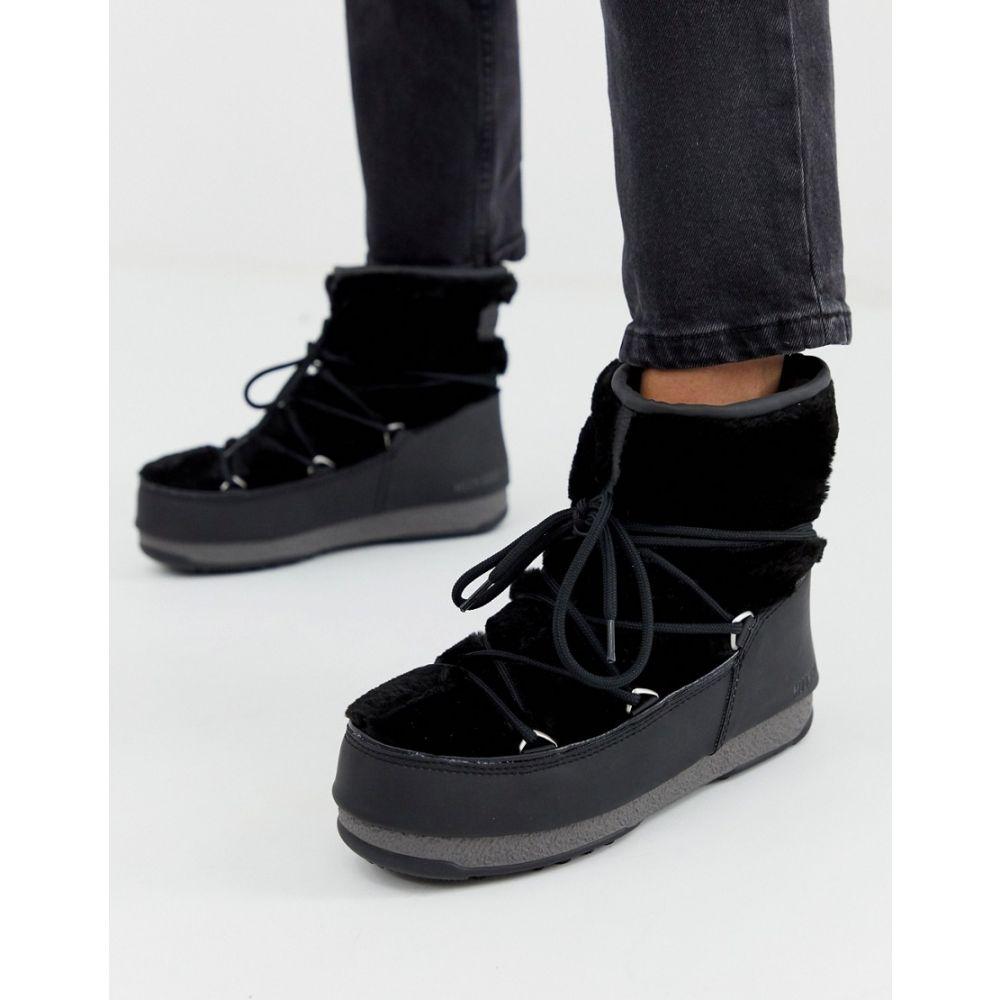 高品質 ムーンブーツ Boot Moon Boot Waterproof レディース シューズ in・靴 ブーツ【Monaco Low Waterproof Snowboots in Black】Black, ヒットイレブン:993e4747 --- dmarketingland.in