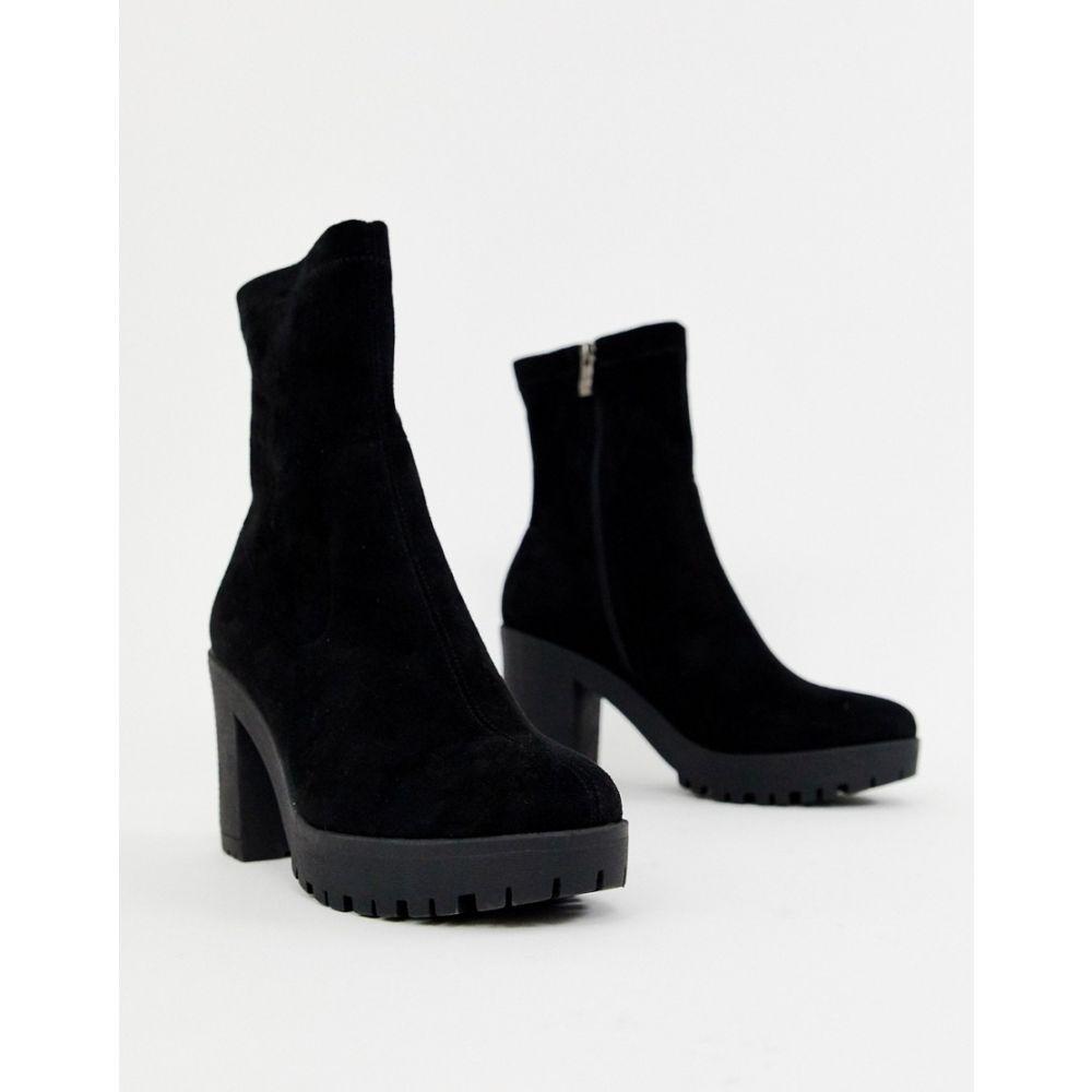 シミ SIMMI Shoes レディース シューズ・靴 ブーツ【Simmi London black chunky sock boots】Black