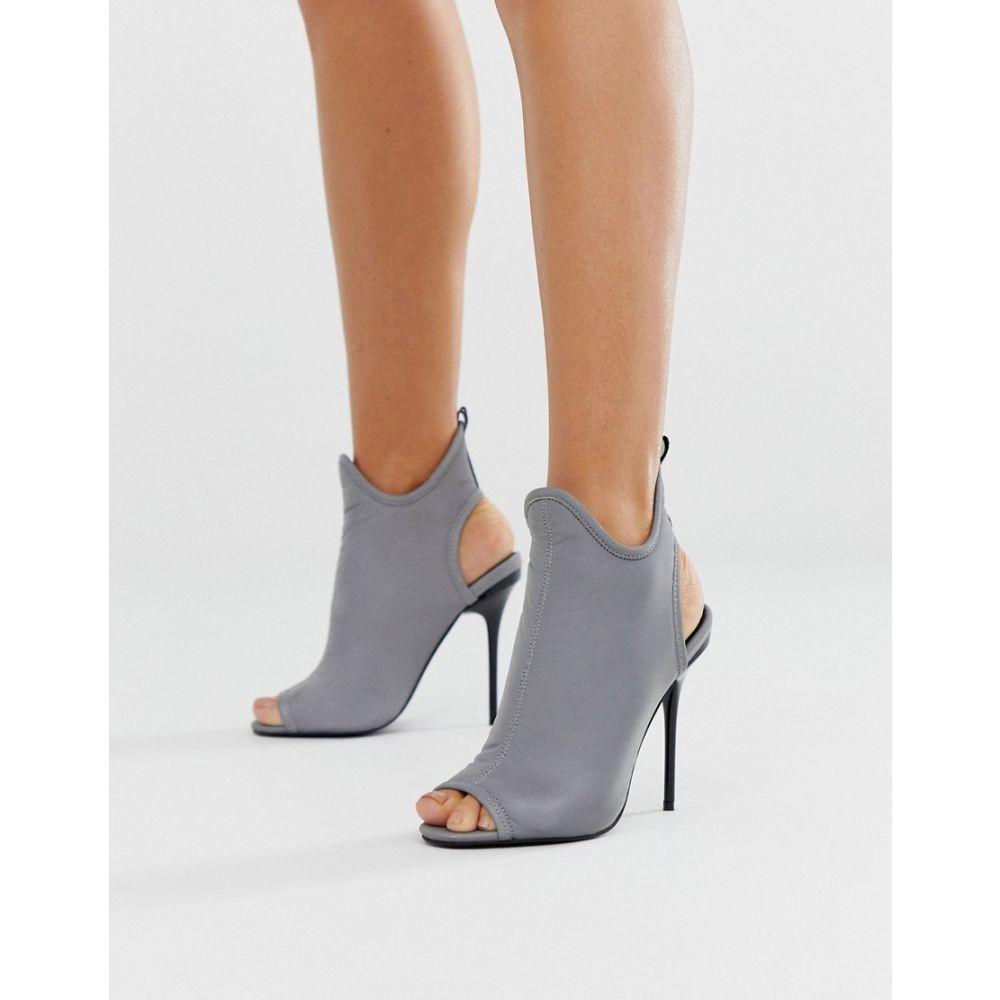 エイソス ASOS DESIGN レディース シューズ・靴 ブーツ【Partition shoe boot heels in reflective silver】Reflective silver