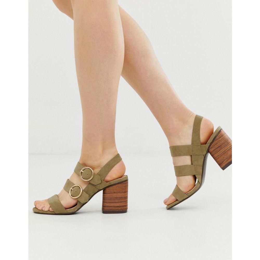 パークレーン Park Lane レディース シューズ・靴 ヒール【buckle strap block heels】Sage