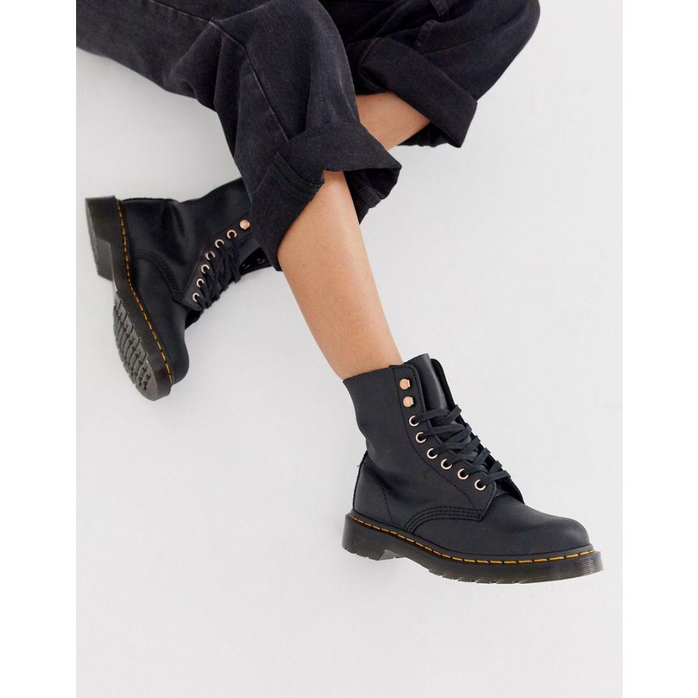 ドクターマーチン Dr Martens レディース シューズ・靴 ブーツ【1460 soapstone leather ankle boots in black】Black