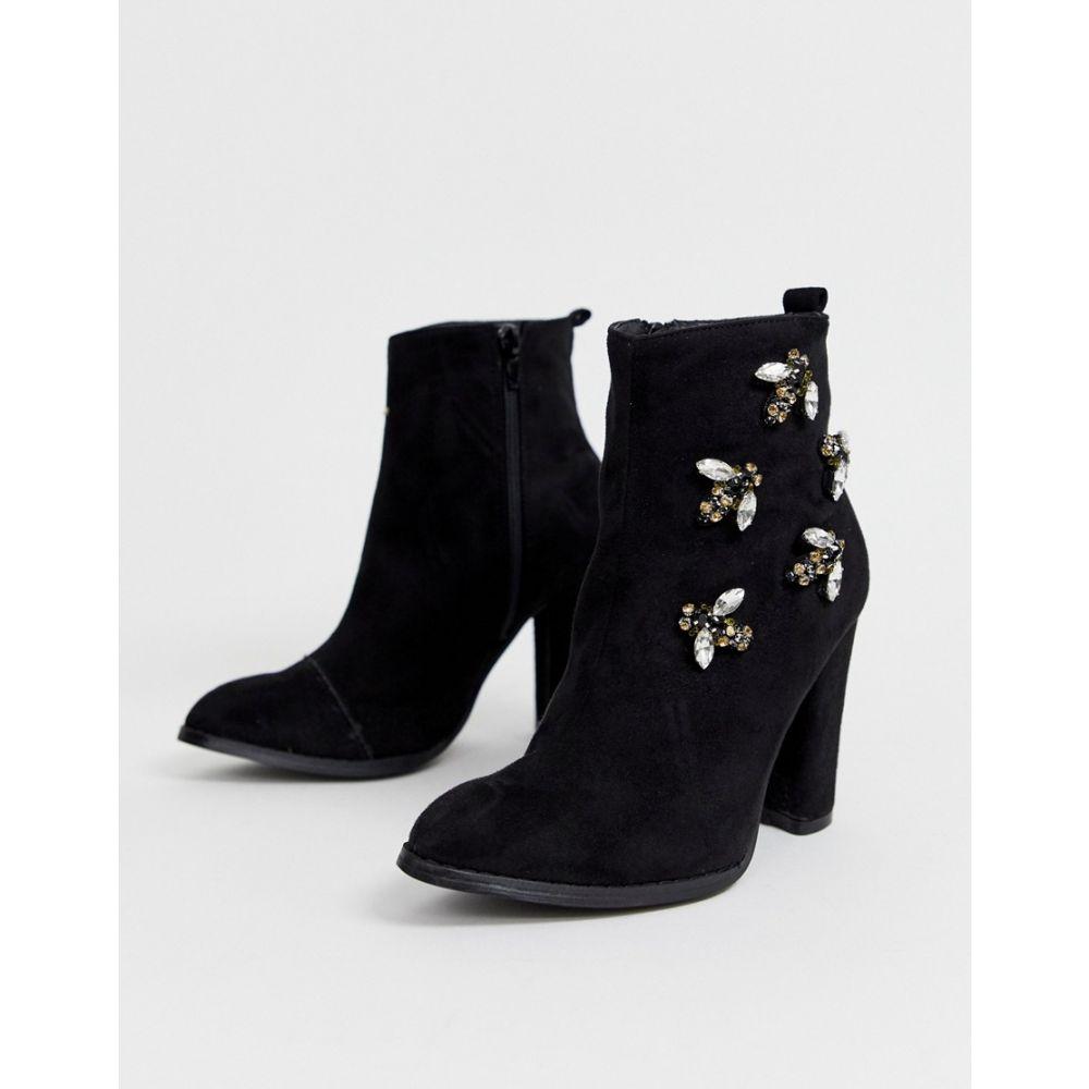 グラマラス Glamorous レディース シューズ・靴 ブーツ【heeled boots with bee embellishment】Black