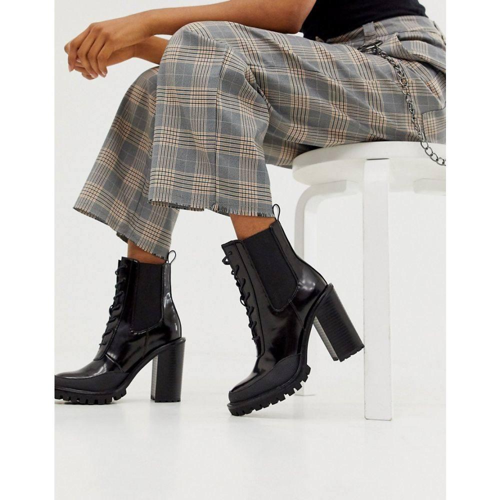 エイソス ASOS DESIGN レディース シューズ・靴 ブーツ【Ellen chunky lace up boots in black】Black