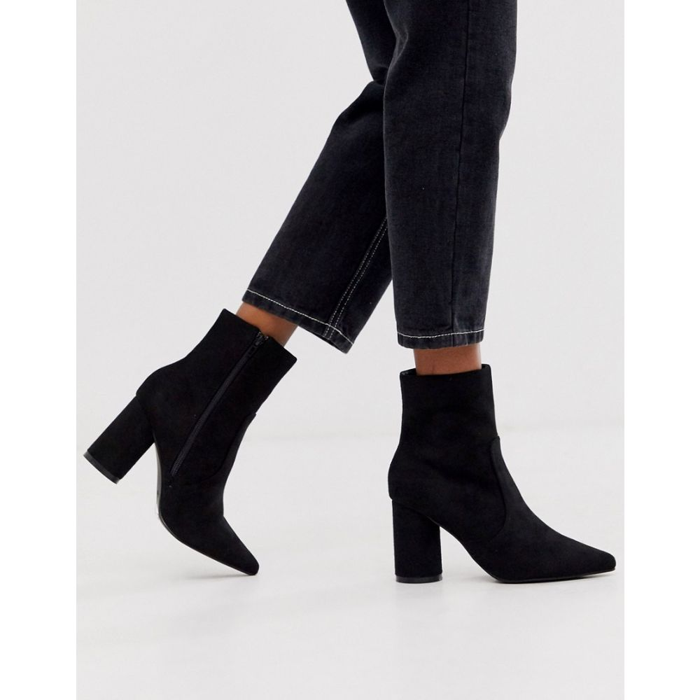 Lost ロストインク heel シューズ・靴 ブーツ【round in レディース Ink ankle boot pointed black】Black