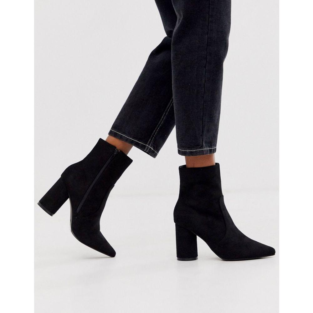 ロストインク Lost Ink レディース シューズ・靴 ブーツ【round heel pointed ankle boot in black】Black