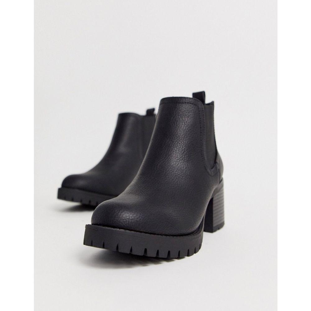 ニュールック New Look レディース シューズ・靴 ブーツ【heeled chelsea boots in black】Black