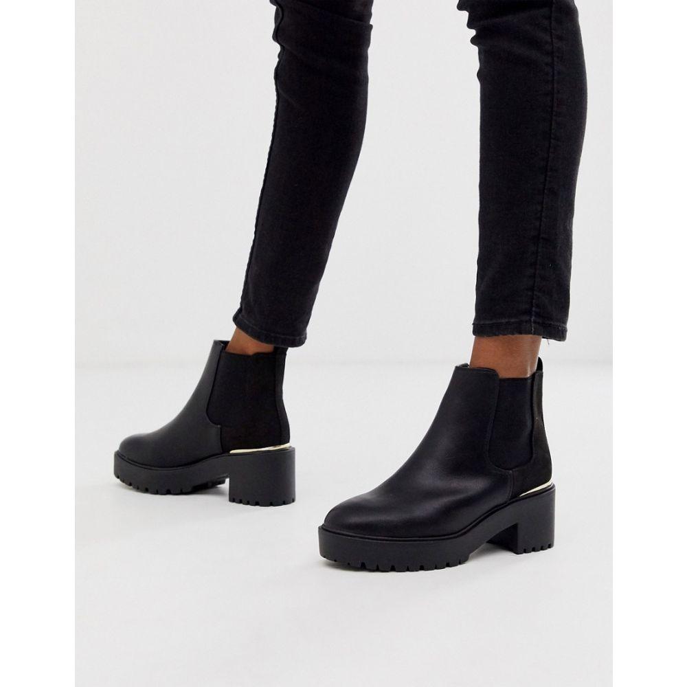 ニュールック New Look レディース シューズ・靴 ブーツ【metal detail chunky heeled boots in black】Black