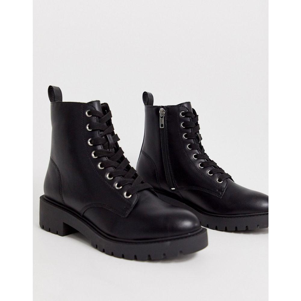 ニュールック New Look レディース シューズ・靴 ブーツ【lace up flat boots in black】Black