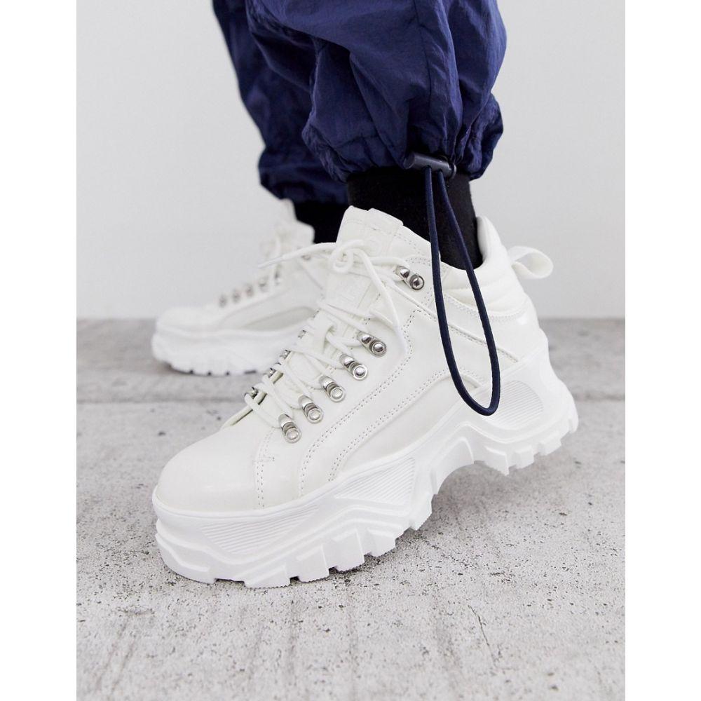 バッファロー Buffalo レディース ハイキング・登山 シューズ・靴【Fina hiking detail ankle boots in white】White