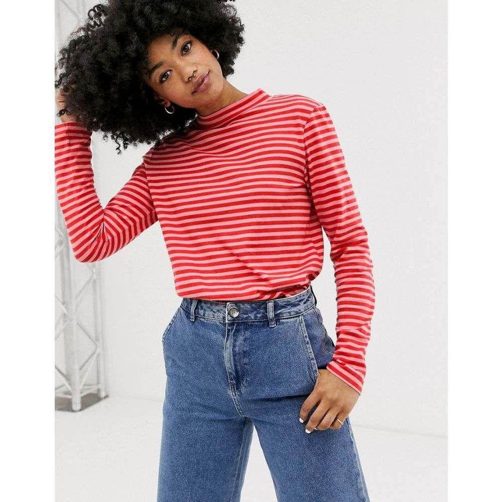エムアイエイチ MiH Jeans レディース トップス 長袖Tシャツ【stripe long sleeve top】Rosa pink/cherry red