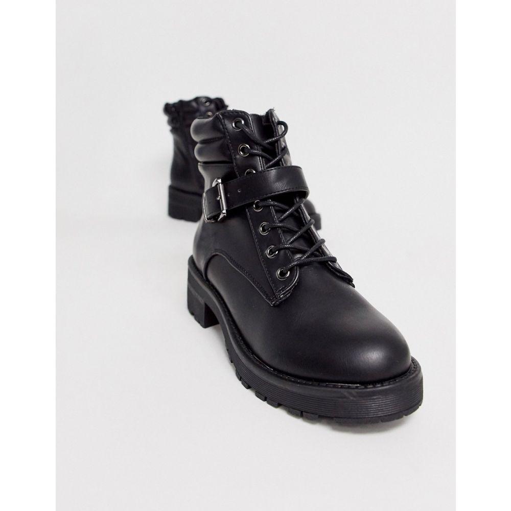 ニュールック New Look レディース ハイキング・登山 シューズ・靴【flat hiker boots in black】Black