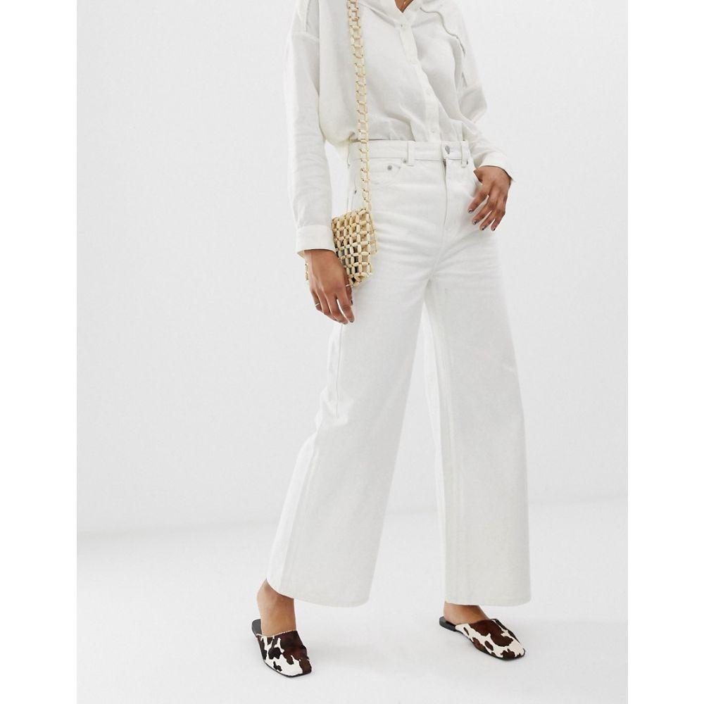 ウィークデイ Weekday レディース ボトムス・パンツ ジーンズ・デニム【Ace wide leg jeans in off white】White