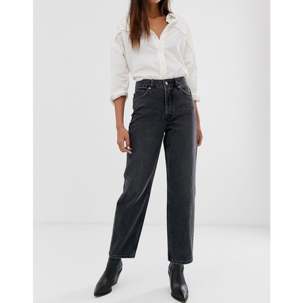 セレクテッド オム Selected レディース ボトムス・パンツ ジーンズ・デニム【Femme high waist sraight leg grey jeans】Grey