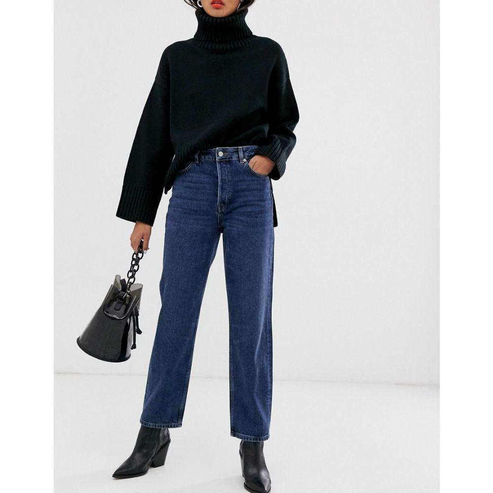 セレクテッド オム Selected レディース ボトムス・パンツ ジーンズ・デニム【Femme high waist straight leg jeans in blue wash】Blue